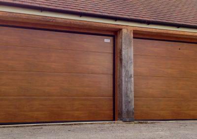 Golden Oak Large Flat Panel Double