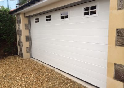 Sectional Garage Door with Square Windows (Top)