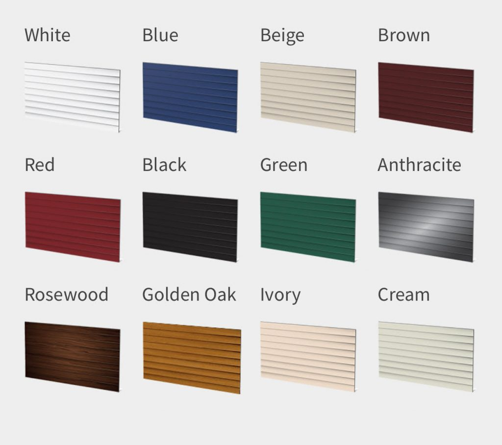 Insulated Electric Roller Garage Doors Scunthorpe Colour Chart